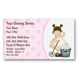 House Cleaning business cards you can customize now! Free two sided