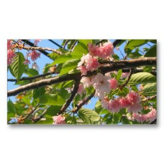 / maintenance / tree trimmer cherry tree Business Card great for any