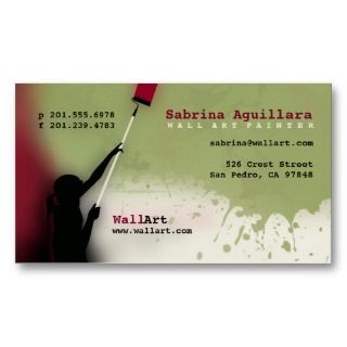 Wall Art Painter Professional Business Card
