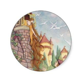 Rapunzel Fairy Tale Poster Print Sticker
