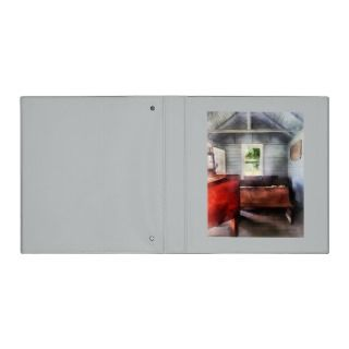 One Room Schoolhouse with Hurricane Lamp Vinyl Binders