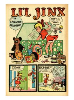 Archie Comics Retro Lil Jinx Comic Book Page Operation Dalmatian (Aged) Print by Joe Edwards