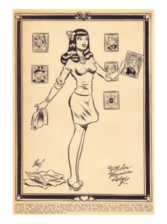 Archie Comics Retro Archie Comic Panel With Love Veronica Lodge (Aged) Print by Harry Sahle