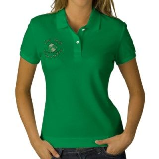 Earth Day Green Frog Recycle Environmental Embroidered Polo Shirt