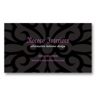 Wrought Iron Decorative Business Card by starstreambusiness