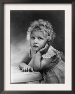 Princess Anne, Daughter of Queen Elizabeth II, 1956 Pre made Frame