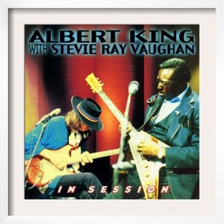 Albert King with Stevie Ray Vaughan   In Session Pre made Frame