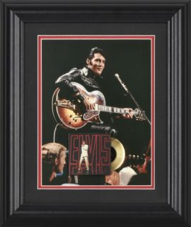 Elvis Presley 68 Special 10x12 framed presentation with mini gold record replica Framed Memorabilia