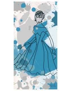 Women in Blue Dress Premium Giclee Print by Irena Orlov