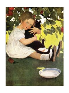 Girl and Cat Print by Jessie Wilcox Smith