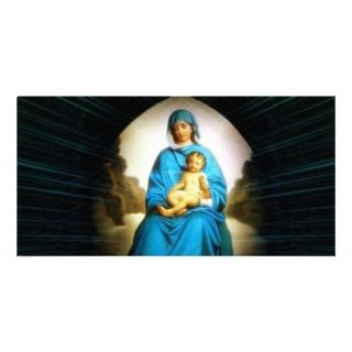 Blessed Virgin Mary and Infant Child Jesus Custom Photo Card