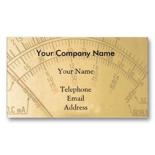 Dial of a Vintage Amp Meter Business Card Templates