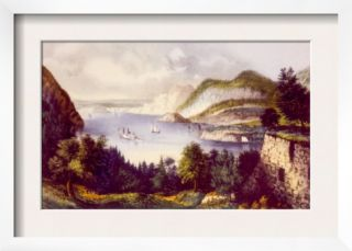 The Hudson River as Viewed from Fort Putnam in West Point, New York Pre made Frame by Currier & Ives