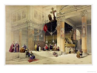 Chancel of the Church of St. Helena, Plate 87 from Volume II of The Holy Land Giclee Print by David Roberts