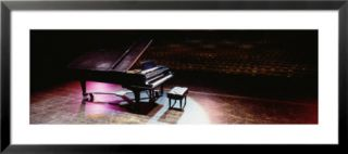 Grand Piano on a Concert Hall Stage, University of Hawaii, Hilo, Hawaii, USA Pre made Frame