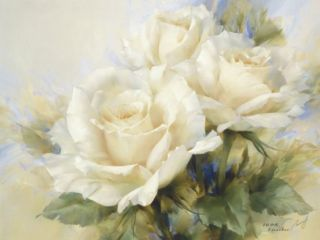 Bouquet Of White Roses Print by Igor Levashov