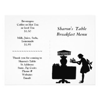 Restaurant Supplies, Breakfast Menu Customizable Flyer Design