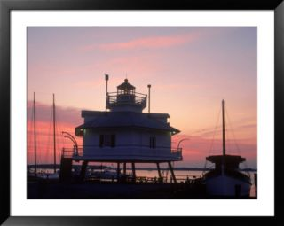 Lighthouse Sunset, Chesapeake Bay Museum, MD Pre made Frame
