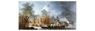 Cautious Landing at Tanna, New Hebrides in 1774, from Voyages of Captain James Cook, 1728 79 Giclee Print by William Hodges
