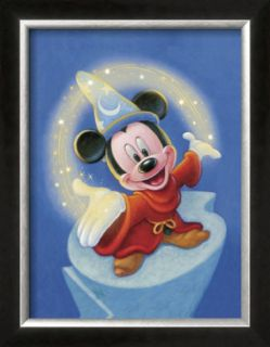 Sorcerer Mickey Fantasia Magic Pre made Frame