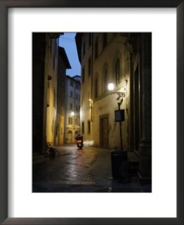 Street Scene at Night, Florence, Italy Framed Photographic Print