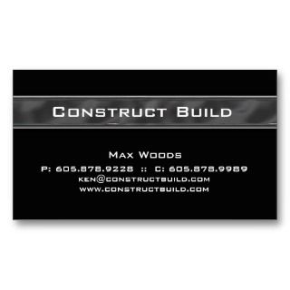 Construction Contractor Business Card Metal 12 business cards by