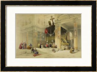 Chancel of the Church of St. Helena, Plate 87 from Volume II of The Holy Land Framed Giclee Print