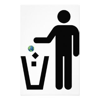 Earth Litter Disposal Stationery Paper