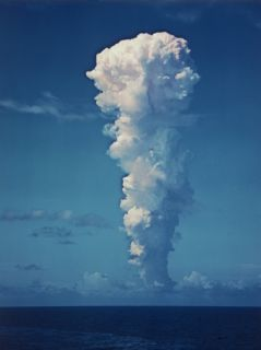 Atomic Bomb Mushroom Cloud After Test at Bikini Island Premium Photographic Print by Frank Scherschel
