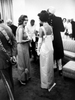 Mrs John F. Kennedy at a Banquet Premium Photographic Print