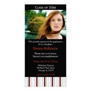 Casa abierta de la graduación plantilla para tarjeta de foto de