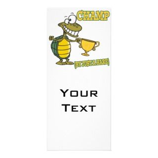 turtle champ by just a hare fable pun rack cards