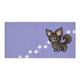 Cartoon Chihuahua (blue long coat) binders by SugarVsSpice