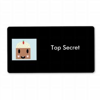 Top Secret Cupcake Custom Shipping Label