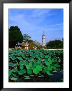 Lotus Pond in Front of 22M High Thap Bac, Hanoi, Vietnam Pre made Frame