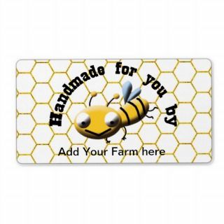 cute honey bee custom kitchen labels