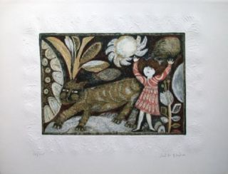 La Petite Fille Et Le Chat Limited Edition by Judith Bledsoe