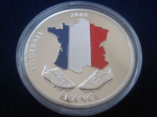 PP MEDAILLE FOOTBALL 2008 SWITZERLAND AUSTRIA FRANCE, TEILCOLORIERT