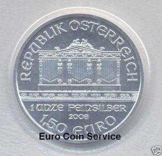 Österreich Wiener Philharmoniker 2008 1 Unze/Oz Silber/silver, erster
