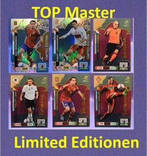 Panini UEFA EURO 2012   Adrenalyn XL   Top Master Karten   limited