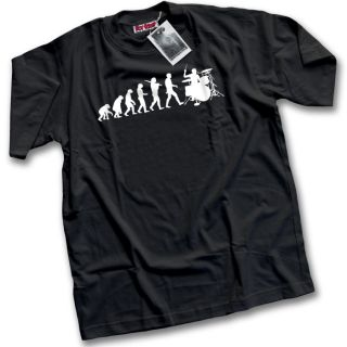 Evolution of a Drummer Mens Black T Shirt Drumkit Pearl