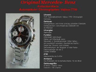 Mercedes Benz Chronograph Automatik Uhr Valjoux 7750 , C E M S SL SLK