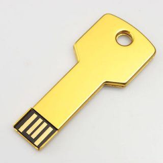 Goldden Color Key Shape 4GB/8GB/16GB USB Flash Memory Pen Drive Stick
