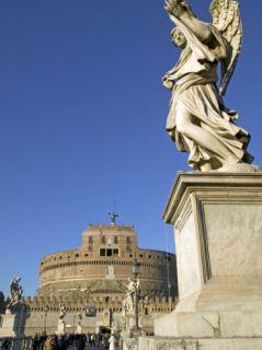 St. Angelo Castle and St. Angelo Bridge, Rome, Lazio, Italy, ope Photographic Print by Marco Cristofori