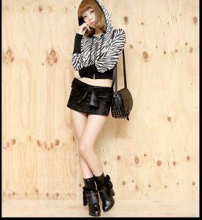 Womens Fashion Skulls Black Faux Leather Shoulder Bag Handbag Purse