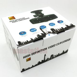 HD 1080P 30FPS Car DVR Camera IR LED Night Vision Vehicle Camcorder DE