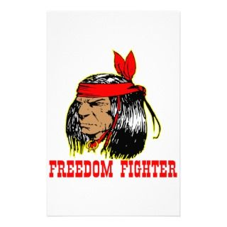 Native American Indian Freedom Fighter Personalized Stationery