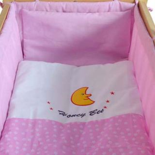 Baby Cradle Swing Crib Baby Bed with Bedding Set Mattress Drape All