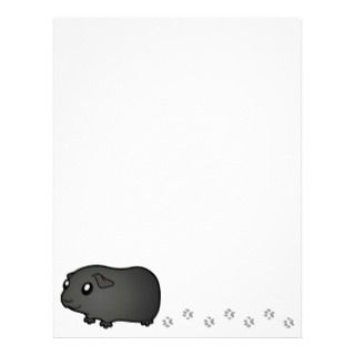 Cartoon Guinea Pig (black) letterhead by SugarVsSpice