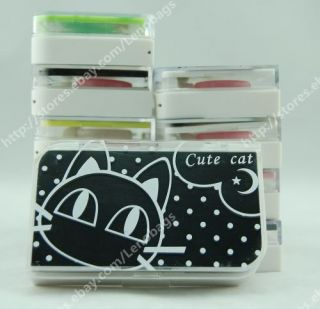 10 Type Cartoon Style Contact Lens Case Holder Box C43